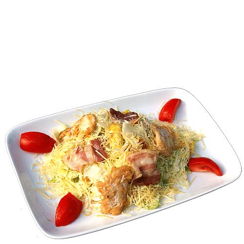 Салат цезарь с курицей и беконом