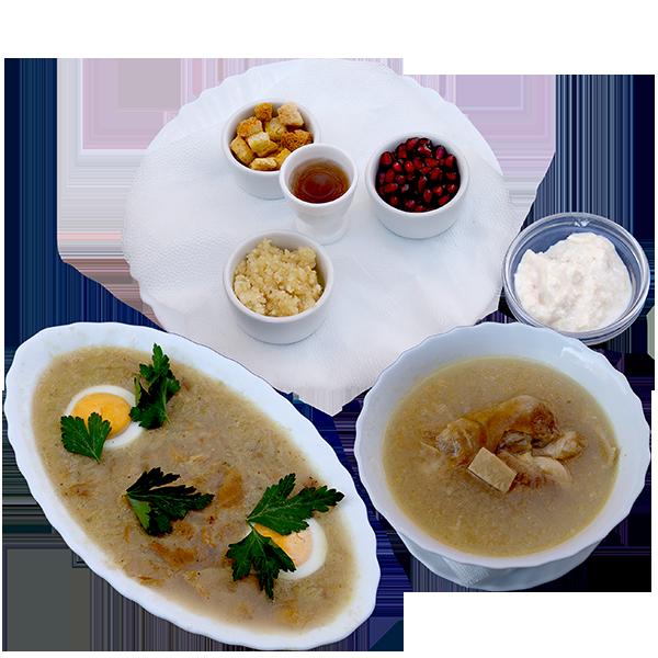 Хаш и холодец блюдо сезона в ресторане Восточные Вечера в Балашихе